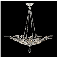 Fine Art Lamps 753640-SF4 Crystal Laurel 4 Light 35 inch Silver Leaf Pendant Ceiling Light