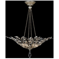 Crystal Laurel 4 Light 35 inch Antiqued Warm Silver Leaf Pendant Ceiling Light