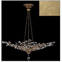 Fine Art Lamps 753740-SF3 Crystal Laurel 6 Light 47 inch Gold Leaf Pendant Ceiling Light