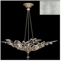 Fine Art Lamps 753740-SF4 Crystal Laurel 6 Light 47 inch Silver Leaf Pendant Ceiling Light