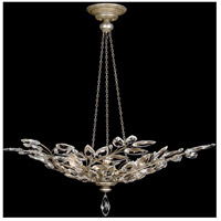 Crystal Laurel 6 Light 47 inch Antiqued Warm Silver Leaf Pendant Ceiling Light