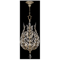 Crystal Laurel 6 Light 18 inch Antiqued Warm Silver Leaf Lantern Ceiling Light