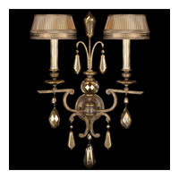 Fine Art Lamps Golden Aura 2 Light Sconce in Aged Gold Patina 754550ST
