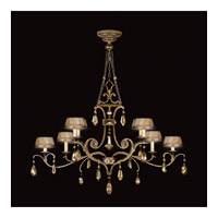 Fine Art Lamps 755440ST Golden Aura 8 Light 63 inch Aged Gold Patina Chandelier Ceiling Light photo thumbnail