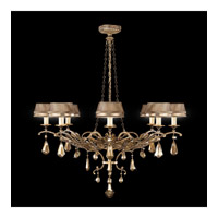 Golden Aura 8 Light 46 inch Aged Gold Patina Chandelier Ceiling Light