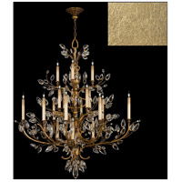 Fine Art Lamps 759440-SF3 Crystal Laurel 16 Light 45 inch Gold Leaf Chandelier Ceiling Light
