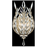 Crystal Laurel 1 Light 8 inch Antiqued Warm Silver Leaf Coupe Wall Light
