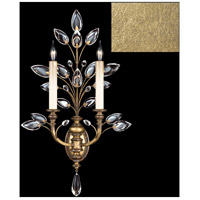 Fine Art Lamps 759750-SF3 Crystal Laurel 2 Light 20 inch Gold Leaf Sconce Wall Light