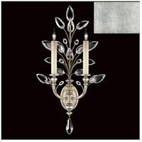Fine Art Lamps 759750-SF4 Crystal Laurel 2 Light 20 inch Silver Leaf Sconce Wall Light