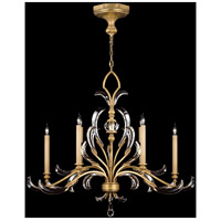Fine Art Lamps Beveled Arcs 6 Light Chandelier in Muted Gold Leaf 760540ST