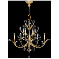 Beveled Arcs Gold 10 Light 56 inch Muted Gold Leaf Chandelier Ceiling Light