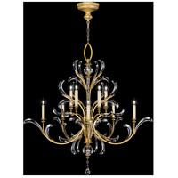 Fine Art Lamps 760640ST Beveled Arcs 10 Light 56 inch Gold Chandelier Ceiling Light
