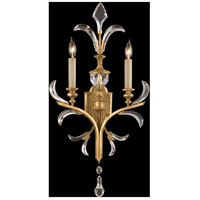 Fine Art Lamps Beveled Arcs 2 Light Sconce in Muted Gold Leaf 760750ST