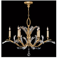 Fine Art Lamps Beveled Arcs 6 Light Chandelier in Muted Gold Leaf 761240ST