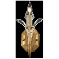 Fine Art Lamps Beveled Arcs 1 Light Sconce in Muted Gold Leaf 761450ST