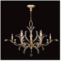 Fine Art Lamps Beveled Arcs 8 Light Chandelier in Muted Gold Leaf 761640ST