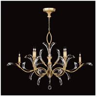 Fine Art Lamps 761640ST Beveled Arcs 8 Light 57 inch Gold Chandelier Ceiling Light