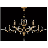 Fine Art Lamps Beveled Arcs 6 Light Chandelier in Muted Gold Leaf 761840ST