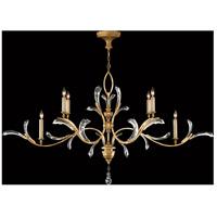 Fine Art Lamps 761840ST Beveled Arcs 6 Light 74 inch Gold Chandelier Ceiling Light