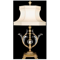 Fine Art Lamps Beveled Arcs 1 Light Table Lamp in Muted Gold Leaf 762010ST