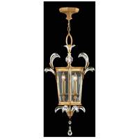 Fine Art Lamps Beveled Arcs 3 Light Lantern in Muted Gold Leaf 762340ST