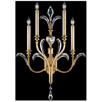 Fine Art Lamps Beveled Arcs 4 Light Sconce in Muted Gold Leaf 762550ST