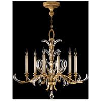 Fine Art Lamps 762640ST Beveled Arcs 6 Light 37 inch Gold Chandelier Ceiling Light