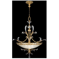 Beveled Arcs Gold 3 Light 44 inch Muted Gold Leaf Pendant Ceiling Light