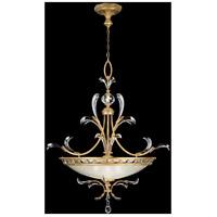 Fine Art Lamps 762740ST Beveled Arcs Gold 3 Light 44 inch Muted Gold Leaf Pendant Ceiling Light