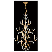Fine Art Lamps Beveled Arcs 16 Light Chandelier in Muted Gold Leaf 762940ST