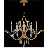 Fine Art Lamps Beveled Arcs 5 Light Chandelier in Muted Gold Leaf 763040ST