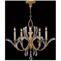 Fine Art Lamps 763040ST Beveled Arcs 5 Light 36 inch Gold Chandelier Ceiling Light