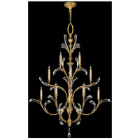 Fine Art Lamps Beveled Arcs 16 Light Chandelier in Muted Gold Leaf 767240ST