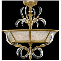 Beveled Arcs Gold 3 Light 26 inch Muted Gold Leaf Semi-Flush Mount Ceiling Light