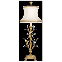 Beveled Arcs Gold 41 inch 100 watt Muted Gold Leaf Table Lamp Portable Light