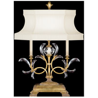 Beveled Arcs Gold 34 inch 60 watt Muted Gold Leaf Table Lamp Portable Light
