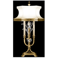 Fine Art Lamps Beveled Arcs 3 Light Table Lamp in Muted Gold Leaf 769410ST