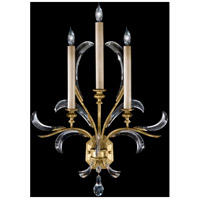 Fine Art Lamps Beveled Arcs 3 Light Sconce in Muted Gold Leaf 769650ST