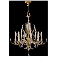 Fine Art Lamps Beveled Arcs 16 Light Chandelier in Muted Gold Leaf 770040ST