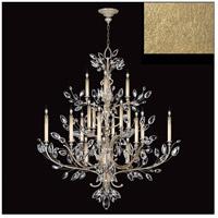 Fine Art Lamps 771140-SF3 Crystal Laurel 20 Light 57 inch Gold Leaf Chandelier Ceiling Light