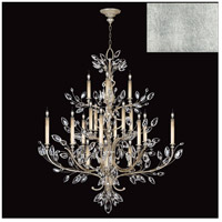 Fine Art Lamps 771140-SF4 Crystal Laurel 20 Light 57 inch Silver Leaf Chandelier Ceiling Light