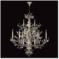 Crystal Laurel 20 Light 57 inch Antique Warm Silver Leaf Chandelier Ceiling Light