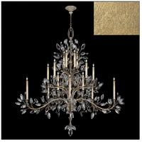 Fine Art Lamps 771240-SF3 Crystal Laurel 20 Light 75 inch Gold Leaf Chandelier Ceiling Light