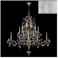 Fine Art Lamps 771240-SF4 Crystal Laurel 20 Light 75 inch Silver Leaf Chandelier Ceiling Light