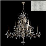 Fine Art Lamps 771240-SF4 Crystal Laurel 20 Light 75 inch Silver Leaf Chandelier Ceiling Light