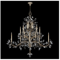 Crystal Laurel 20 Light 75 inch Antique Warm Silver Leaf Chandelier Ceiling Light