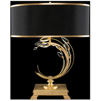 Fine Art Lamps 771510-SF34 Crystal Laurel 31 inch Gold Leaf Table Lamp Portable Light