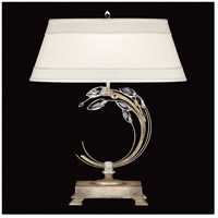 Crystal Laurel 31 inch 150 watt Antiqued Warm Silver Leaf Table Lamp Portable Light