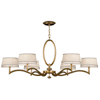 Allegretto Gold 6 Light 51 inch Burnished Gold Leaf Chandelier Ceiling Light