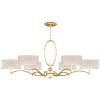 Fine Art Lamps 771740-SF33 Allegretto 6 Light 51 inch Gold Leaf Chandelier Ceiling Light